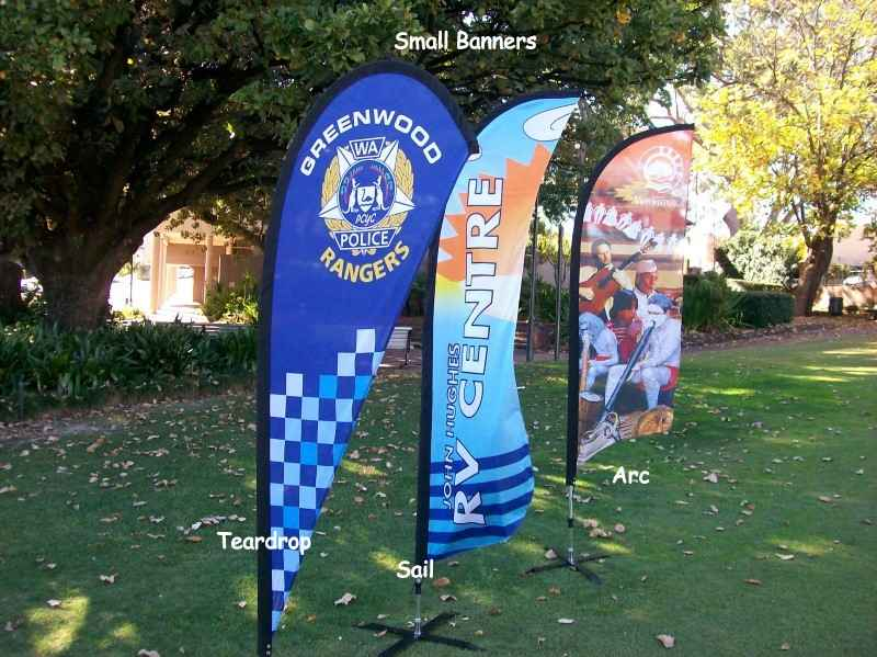 Teardrop Banners, Arc Banners, Sail Banners & Bali Flags